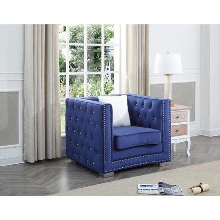 Glory Furniture Miami G801-C Chair, Blue ()