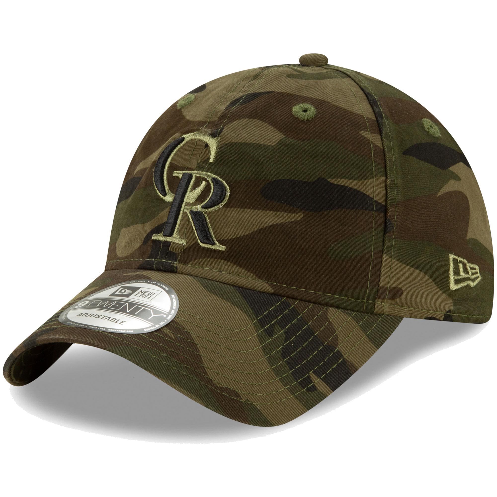 Colorado Rockies New Era Tonal Camo Core Classic 9TWENTY Adjustable Hat - Camo - OSFA