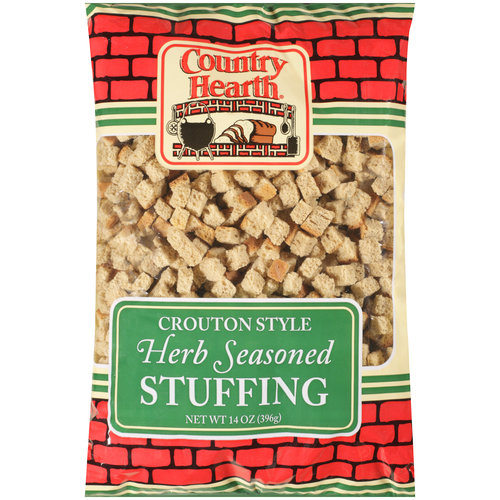 Country Hearth Crouton Style Herb Seasoned Stuffing, 14 oz