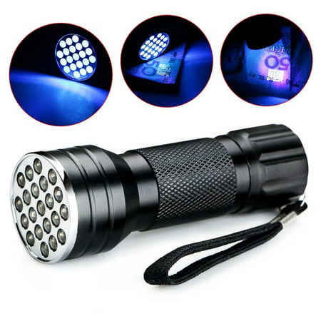 UV Blacklight Flashlight, Ultraviolet 21 LED Black Light for Pet Urine Stain Detector Finds Dog / Cat Pee on Carpets, Rugs, any Floor or (Best Way To Get Dog Pee Out Of Carpet)