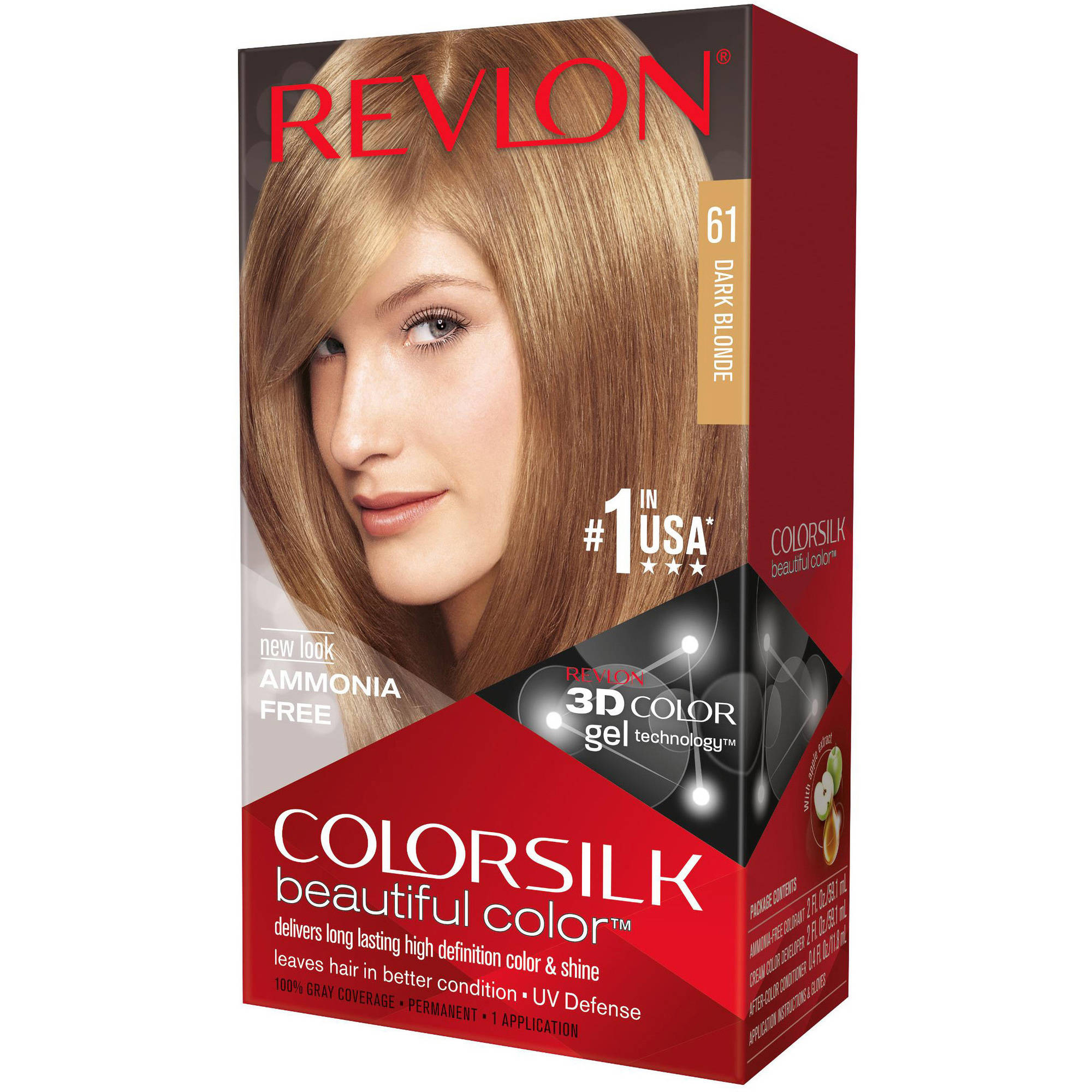 Revlon Colorsilk Beautiful Color Permanent Hair Color, 61 Dark Blonde