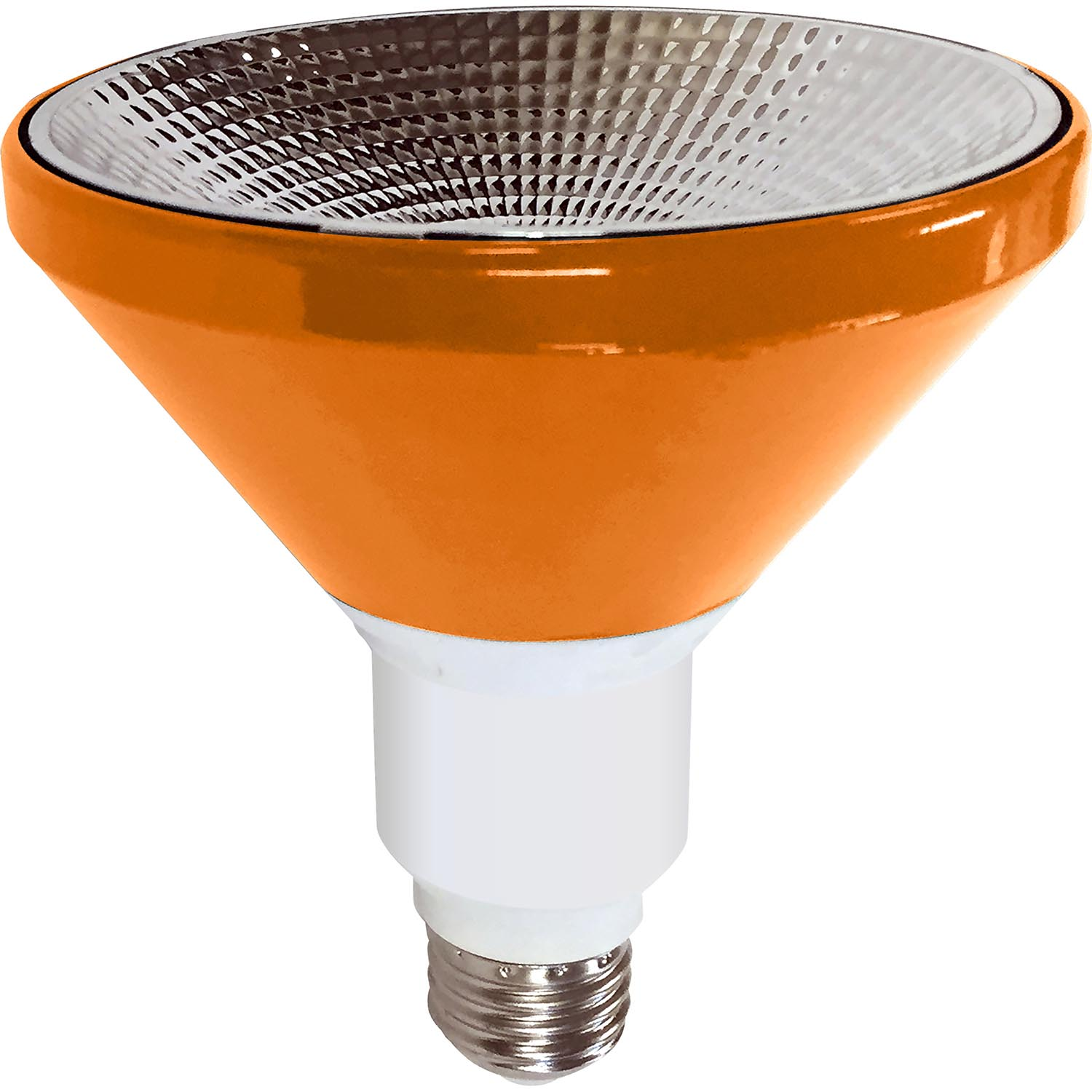 Orange outdoor flood light bulbs outdoor lighting illumin8 par38 orange led indoor outdoor flood light non dimmable aloadofball Image collections