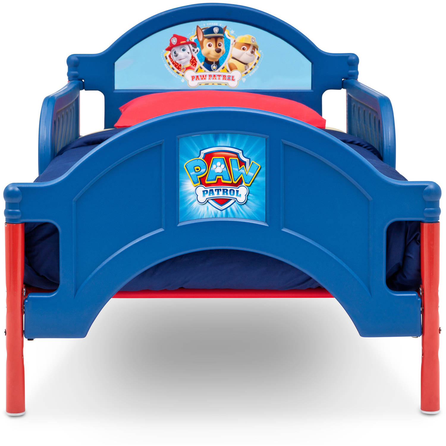 delta children paw patrol plastic toddler bed - walmart