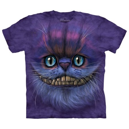 Purple Cotton Bf Cheshire Cat Design Novelty Adult T-Shirt NEW - Baby Cheshire Cat