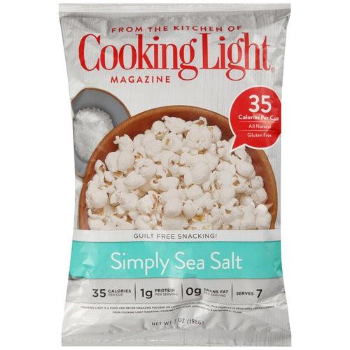 (4 Pack) Cooking Light Simply Sea Salt Popcorn, 7 oz