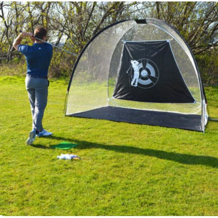 """Zimtown 10"""" Foldable Golf Net Waterproof Training Target Cage, Driving Hitting Practice Net with Portable Carry Bag for Indoor / Outdoor Use"""
