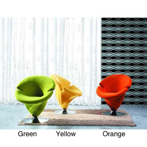 Tulip Microfiber Leisure Chair Yellow