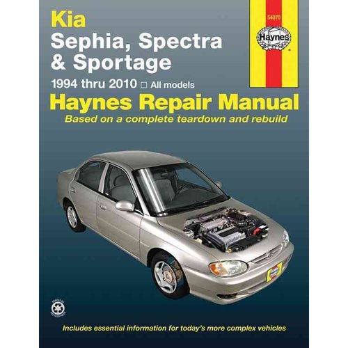 Haynes Kia Sephia, Spectra & Sportage 1994 Thru 2010 Automotive Repair Manual
