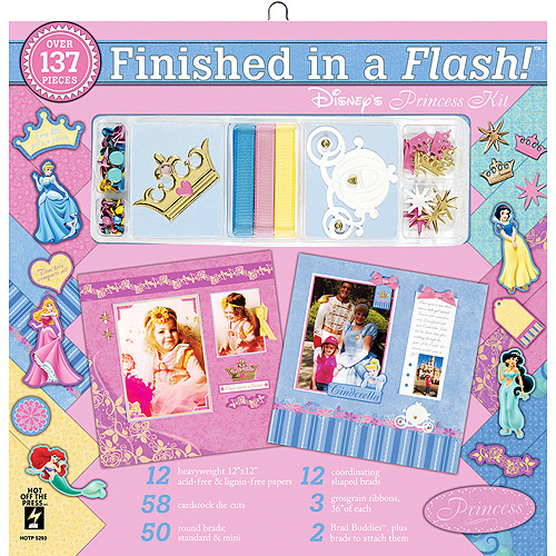 Finished In A Flash Page Kit 12'' x 12'', Disney Princess