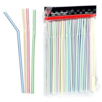 150 Pc Long Flexible Drinking Straws Party Bar Drinking Supplies Plastic Bendy