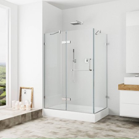 Vigo 32 X 48 Frameless 3 8 Clear Brushed Nickel Shower