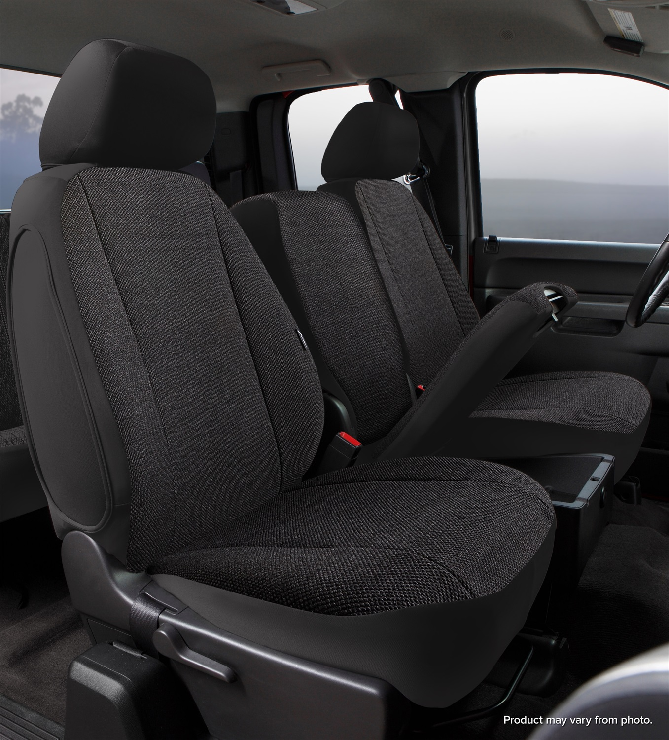 Fia TRS47-30BLACK Wrangler Solid Seat Cover Fits 11-14 F-150 - image 2 of 2