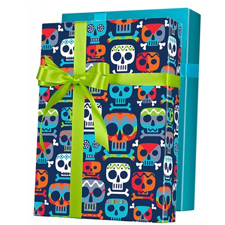 Zombie Skull Gift Wrap Wrapping Paper 15ft Roll (Zombie Gift Wrap)