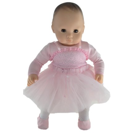 Ballerina Outfit with Slippers for Bitty Baby (Baby Ballerina)