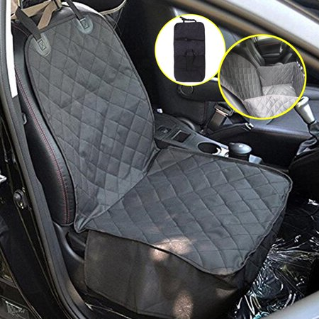 Pet Seat Cover Dog Car Front Nonslip Protector Mat With Zipper 600D Oxford Cloth