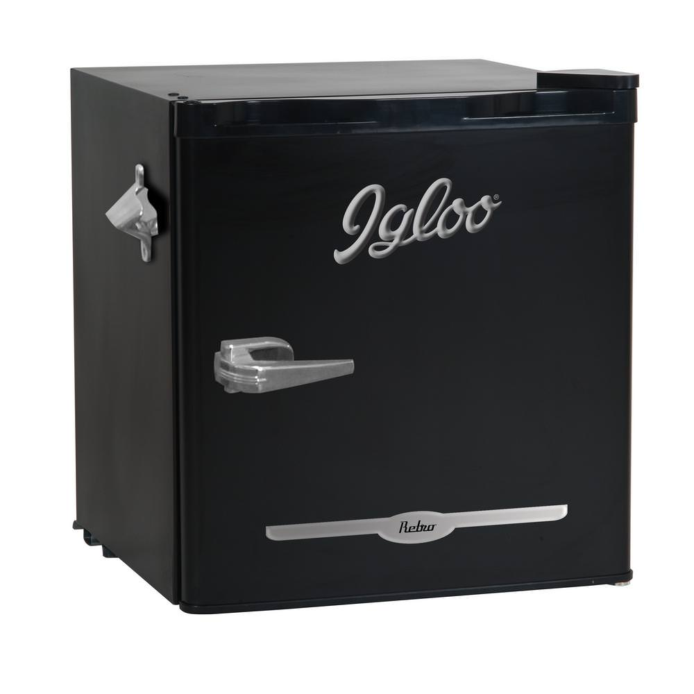 Igloo 1.6 Cu Ft Retro Bar Fridge With Side Bottle Opener, Multiple Colors by CURTIS INTERNATIONAL LTD