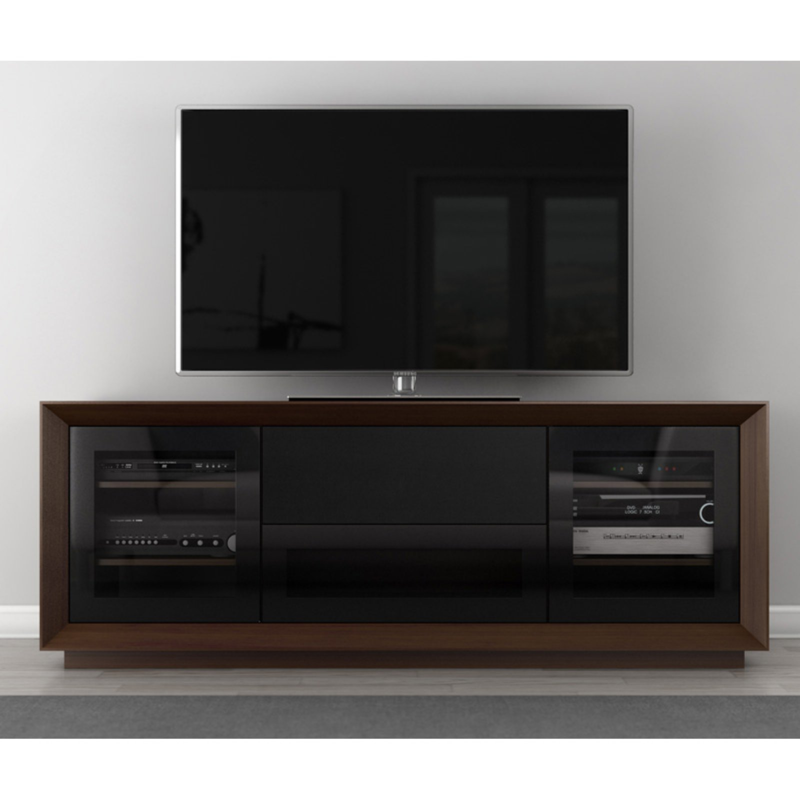 Furnitech Signature Home Collection 70 in. TV Stand - Walnut