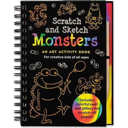 Scratch and Sketch: Monsters: An Art Activity Book for Creative Kids of All Ages - Scratch Paper Art