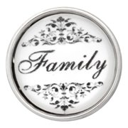 NUGZ Jewelry 73807 Charm-Nugz Snap On-Family-Glass Print