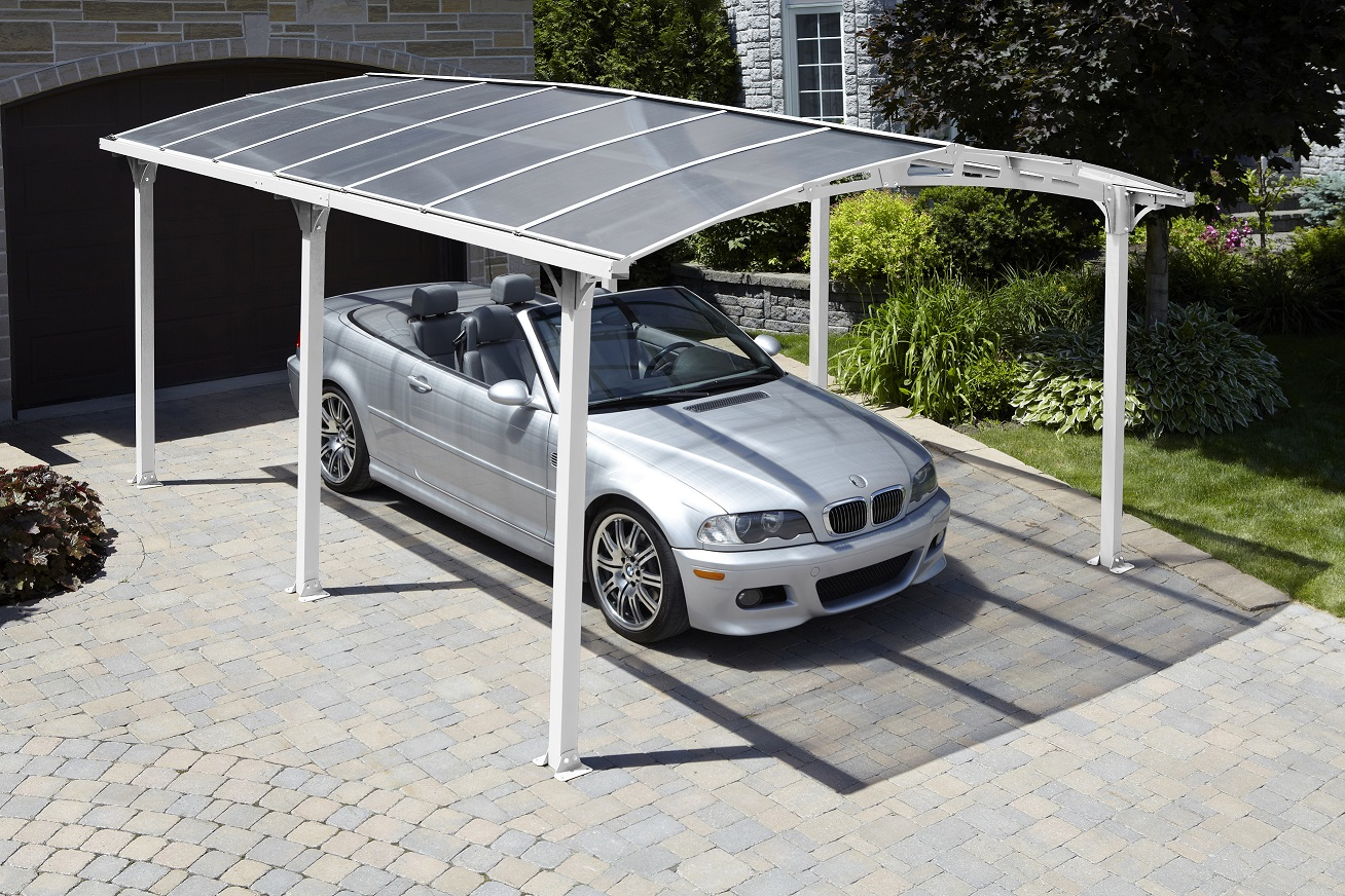 Acay Carport with Gutter in Slate
