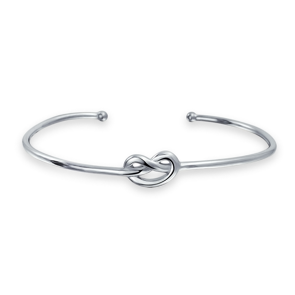 Bling Jewelry Modern Knot Stackable Bangle Bracelet Sterling Silver