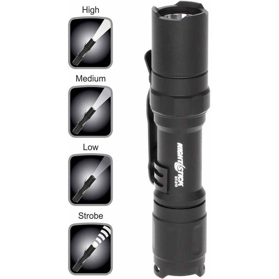 "Nightstick MT-210 Mini-TAC PRO Metal Multi-Function LED Flashlight, 1 AA, 4"", Black"