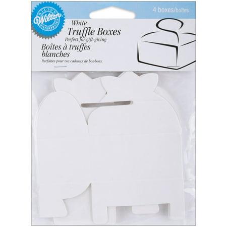 Boxed Truffle - Truffle Boxes - White, By Wilton