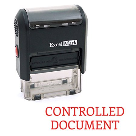 CONTROLLED DOCUMENT Self Inking Rubber Stamp - Red Ink (ExcelMark A1539)