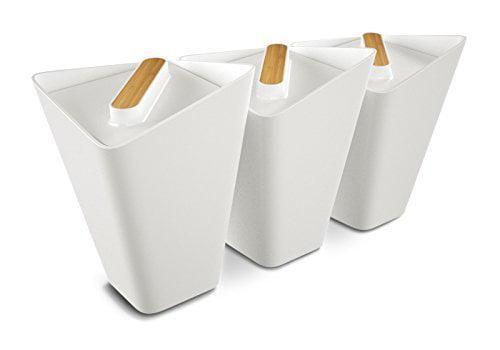 Black+Blum Forminimal Storage Jars x 3 (White) by Black Blum