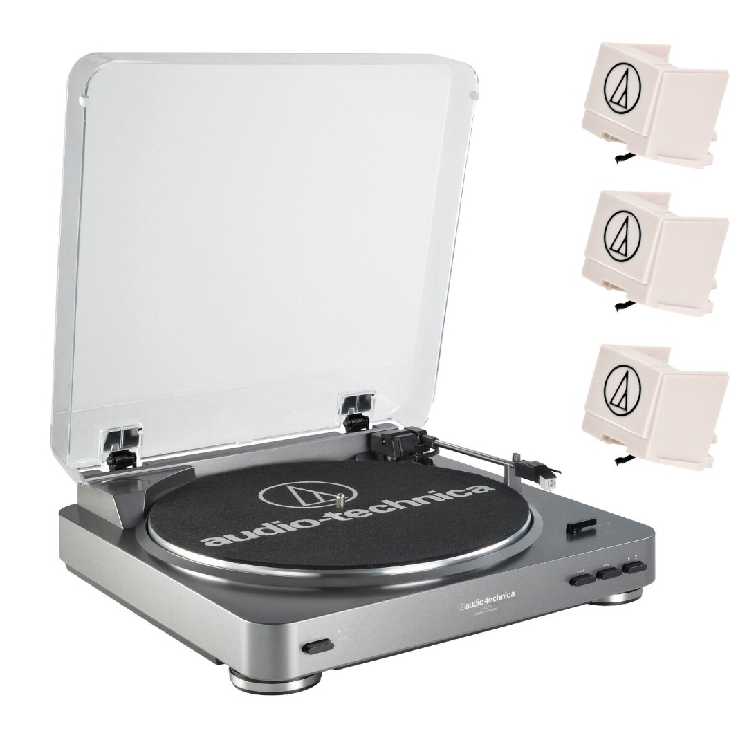 Audio-Technica AT-LP60 Fully-Automatic Turntable + Replacement Stylus by Audio-Technica