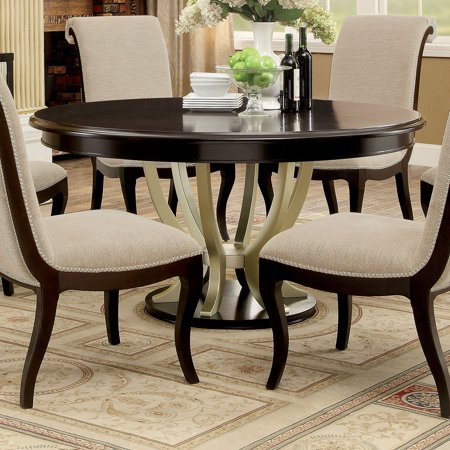 Furniture of America Reina 60 in. Round Dining Table ()