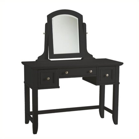 . Hawthorne Collections Bedroom Vanity Table in Black