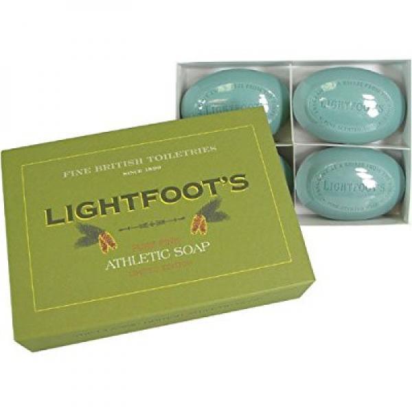 Lightfoot's Pure Pine Gentlemen's Athletic Soap - 4 Bar Boxed Set