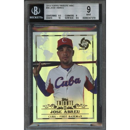 2013 Topps Tribute Wbc 98 Jose Abreu White Sox Rookie Bgs 9 85 9 10 95