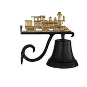 Montague Metal Products CB-1-12-GB Cast Bell With Gold Bronze Train Ornament