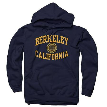 - University Of California Berkeley Revere Arch & Seal Men's Hoodie Sweatshirt- Navy