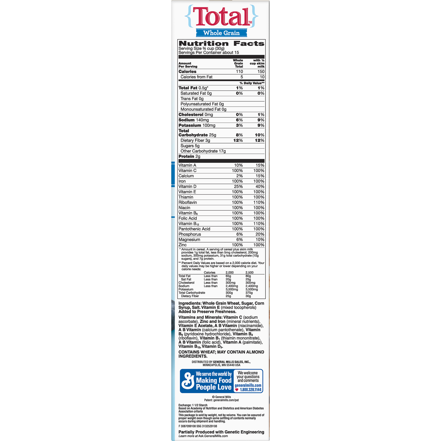 Cereal, with Whole Grain Flakes, 16 oz