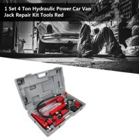 Ccdes Hydraulic Jack 4 Ton Hydraulic Power Car Van Jack Body Power Repair Kit Tools Red