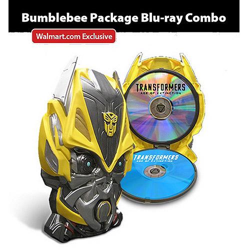 Transformers: Age Of Extinction (Blu-ray + DVD + Digital HD + Bumblebee Mask Packaging) (Walmart Exclusive) (Widescreen)