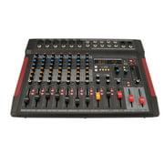 Pyle PMX648 - 8-Channel Audio Mixer w/ Recording Interface - 6 XLR Input/ 2 XLR Output Connectors, Built-in FX/SUB Output & MP3 Player
