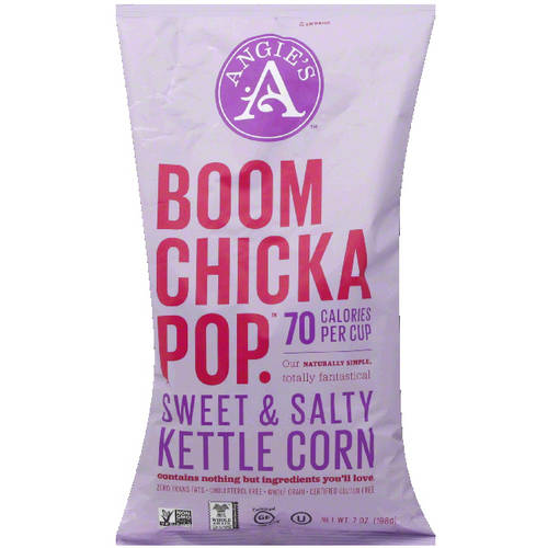 Angie's Boom Chicka Pop Sweet & Salty Kettle Corn, 7 oz, (Pack of 8)