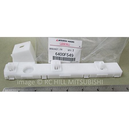 Driver Side Front Bumper Bracket (6400F549 GENUINE MITSUBISHI OEM FACTORY ORIGINAL BRACKET FRONT LEFT DRIVER BUMPER SIDE LANCER SPORTBACK 2.0L DOHC I4 MIVEC PLEASE SEND VIN# TO VERIFY ITEM APPLIES TO YOUR VEHICLE)