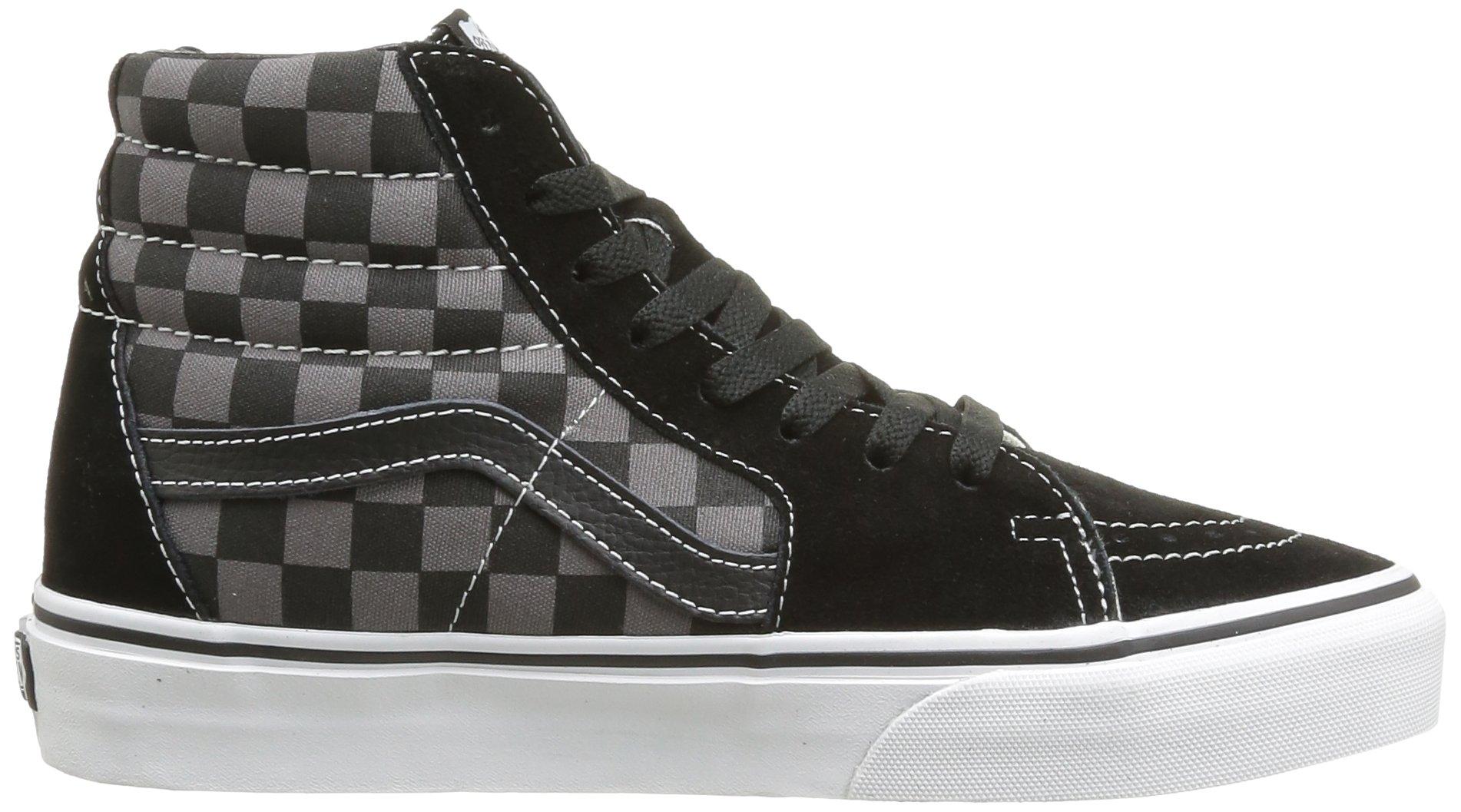 3cd73186a48b63 Vans - Vans Men s Sk8-Hi Black   Pewter Checkerboard Ankle-High Canvas  Skateboarding Shoe - 11M - Walmart.com