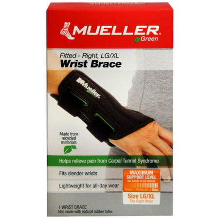 Mueller Green Fitted Wrist Brace, Right, LG/XL 1 -