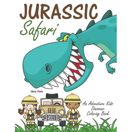 Jurassic Safari : An Adventure Kids Dinosaur Coloring Book - Leaf Safari Adventure
