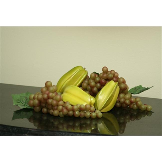 Distinctive Designs F-760 Fruit -Clusters- Juicy Green Finger Grape Clusters - Pack of 12