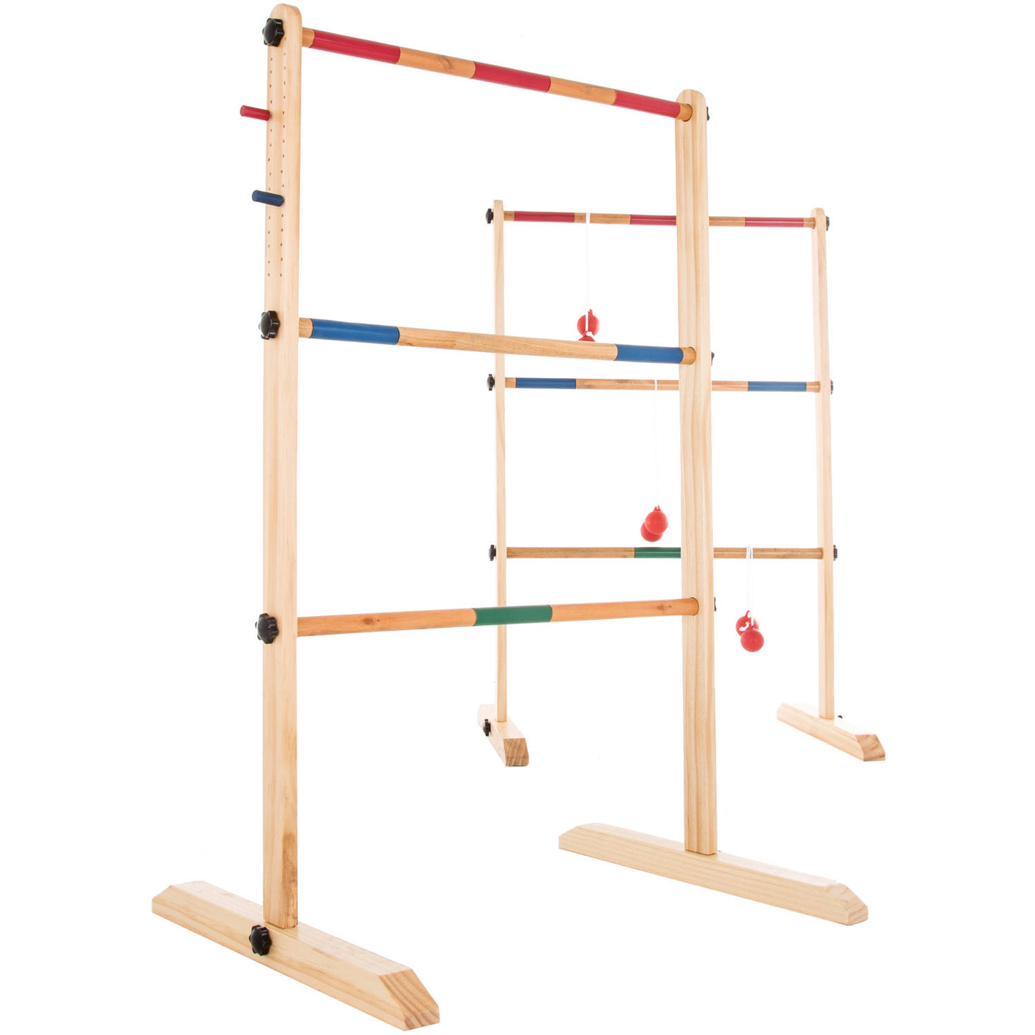 Hey! Play! Double Wooden Ladder Golf with 6 Bolas