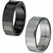 AAB Style RTS-31B Gorgeous Cut Tungsten Ring - Tungsten  Gold or Black PVD