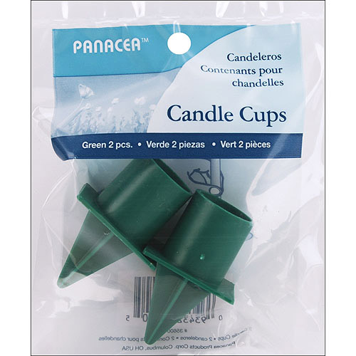 Candle Cup with Spike 2pk, Green