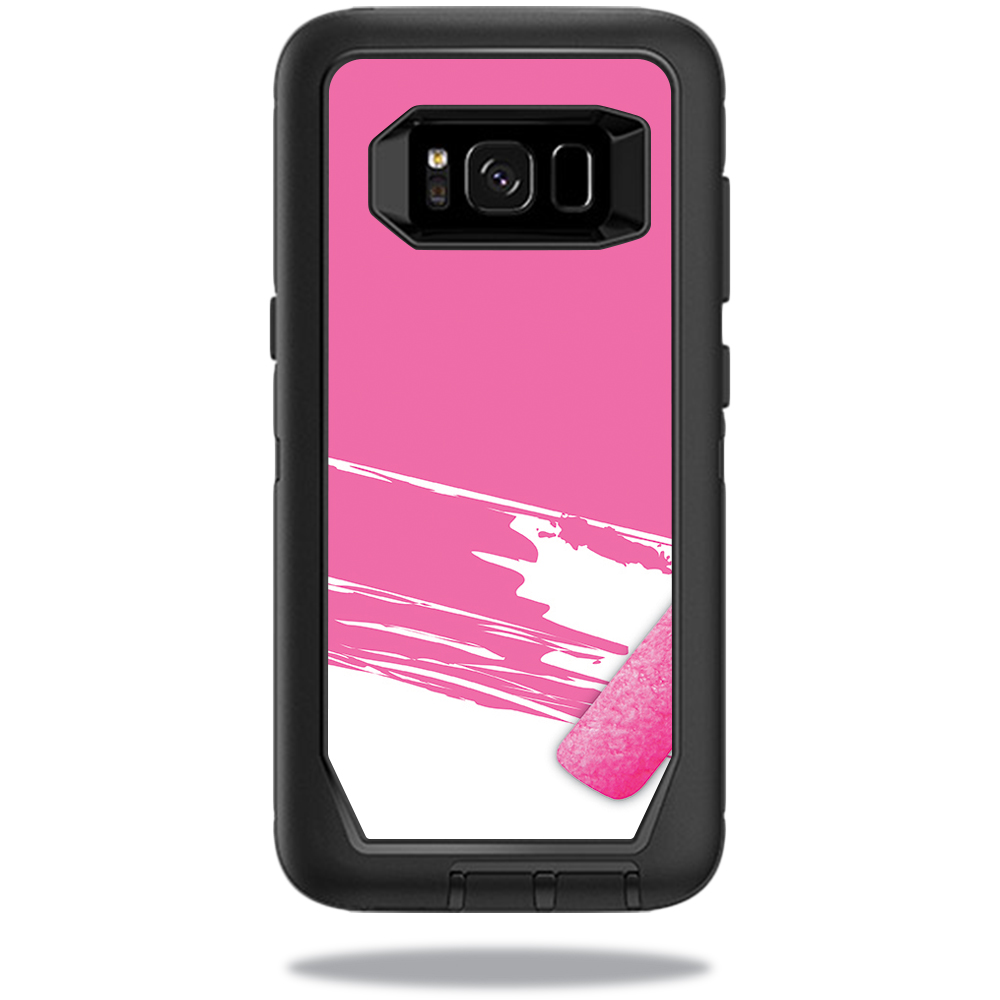 MightySkins Protective Vinyl Skin Decal for OtterBox DefenderSamsung Galaxy S8 Case sticker wrap cover sticker skins Pink Paint Roller
